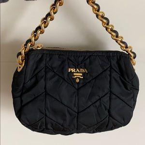 Black quilted nylon Prada bag